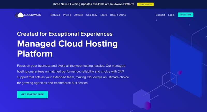 Cloudways home page