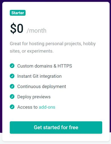 netlify hosting pricing